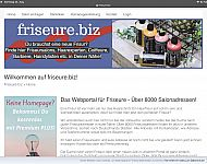 Webprojekt mit Top Level Domain Friseure.biz mit über 7000 Adressen - London